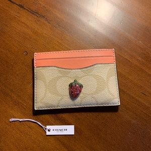 Coach Strawberry CC/Business Card Holder Wallet